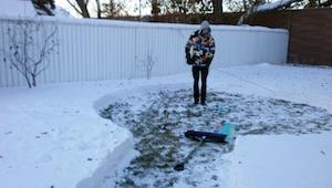 Han begyndte at bygge noget i sin have hen over vinteren, resultatet er fantasti