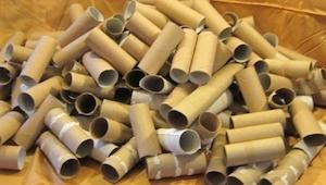 Hun samlede en hel æske fyldt med tomme toiletpapirsruller. Det hun gør med dem,