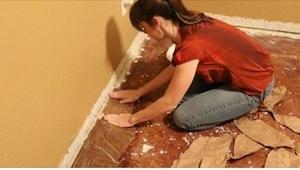 Det ville aldrig have faldet mig ind at lave et gulv af DETTE! Men det ser glimr