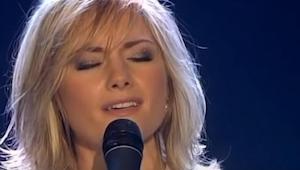 Hun begyndte at synge Ave Maria, da hun var færdig var jeg så jeg rystede over h