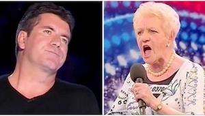 Denne gang fik det britiske jurymedlem en over næsen! Denne ældre dame viste ham
