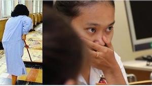 De studerende regnede hende for at være rengøringsassistent. Det, som deres unde