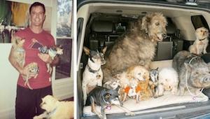 Denne mand tager ældre hunde til sig, som ikke har chance for at finde et hjem a