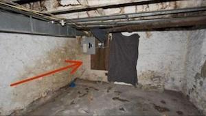 Han ville rive en væg ned i kælderen. Det, som han fandt bag den, er svært at be