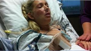 Hun døde under fødslen af sit første barn. 24 timer efter at hendes mand havde s