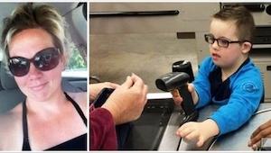 Da denne mor så hvad den ansatte gjorde ved hendes søn med Down's syndrom, b