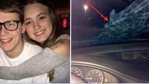 En sen aften fandt hun en skjorte på bilens forrude. Heldigvis kom hun til at tæ