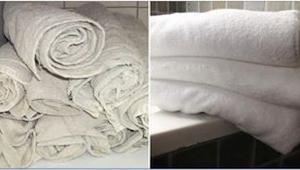 Hendes gamle håndklæder stråler i en perfekt hvid farve. Lær tøjvaskens hemmelig
