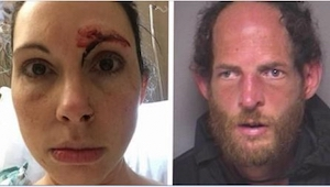 Da manden angreb hende på et offentligt toilet, forsøgte hun at rive og sparke h