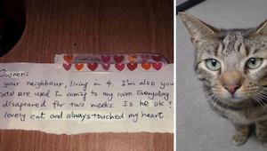 Manden var knust efter tabet af sin ene kat. Så en dag, modtog han et brev sat f
