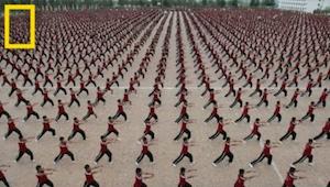 I templet Shaolin Kung Fu bliver 36.000 børn undervist. Se her, hvordan deres li