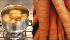 Fra nu af så koger jeg mine kartofler med nogle gulerødder! Hvis jeg vare viste