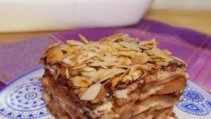 Spild ikke tiden med at bage, denne æbletærte kan du lave på et øjeblik, uden at