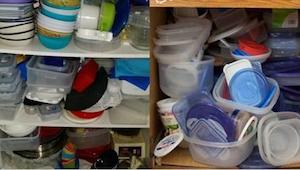 I tusindvis af køkkener råder kaos på grund af utallige plastbeholdere. Det er t
