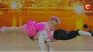 Publikum troede at de skulle se endnu en dans udført af to børn, men efter et øj