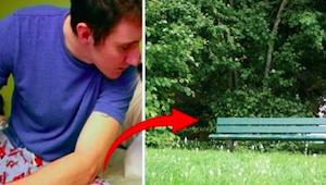 Han gik ud for at ryge den sidste cigaret, før det planlagte selvmord, da der pl
