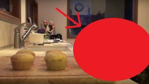 Kvinden besluttede sig at filme den, som stjal hendes muffins. Når du ser den fi