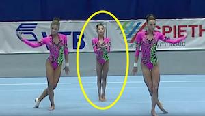 Hvad gymnasterne laver med den lille pige er utroligt!