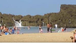 Hvad der er sket på denne strand vil efterlade dig mundlam!