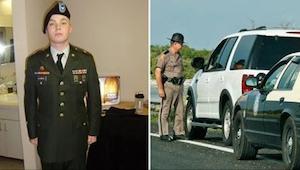 En ung krigs veteran vidste ikke hvorfor han blev stoppet af politiet. Da han fa
