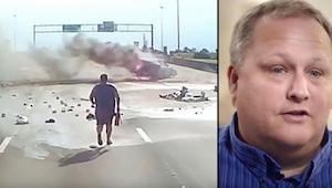Lastbilchauffør så en forfærdelig ulykke og skyndte sig at hjælpe. Hvad hans kam