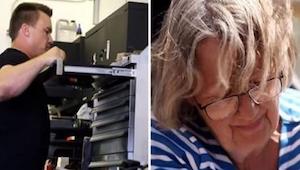 En lam kvinde sneg sig ind sin mands garage. Hvad hun fandt chokerede hende!