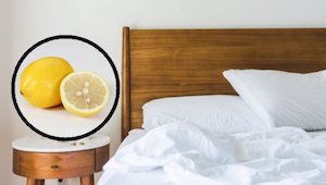 Find ud af hvad der sker, når man anbringer en halv citron ved siden af sengen