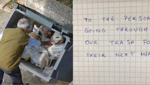 I kan ikke forestille jer, hvad restauratøren skrev til den hjemløse, som hver d