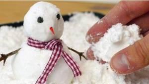 Jeg vidste ikke, at kunstig sne er så nemt at lave!