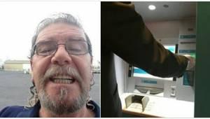 Da han fandt  500 glemte dollars i en pengeautomat, gik han direkte til banken o