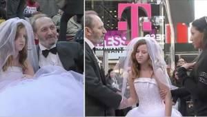 Han er 65 år gammel, hun er 12. Se folks reaktion på deres bryllup.