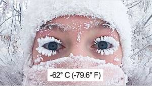 Termometeret viste -62 grader celsius i verdens koldeste landsby. Man bliver ånd