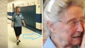 Skoleinspektøren afslørede den 77-årige pedels hemmelighed, og tvang hende til a