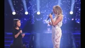"""Stjernen spurgte den lille pige, om hun kan synge """"You Raise Me Up"""". Få sekunder"""