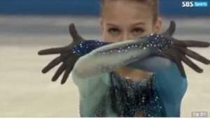 Den unge russiske kunstskøjtedanserinde overraskede dommerne med et hop, som ikk