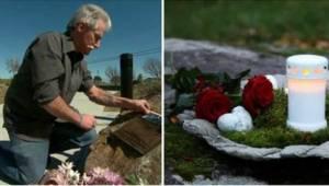 I over 13 år har han sat stearinlys op og lagt blomster på det sted, hans søn dø