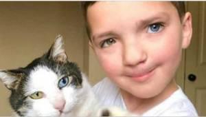 Den syvårige skammede sig over sit udseende. Men så fik han en helt special kat