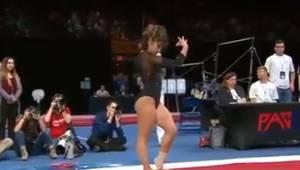 Gymnastikpigen valgte en melodi af Michael Jackson til at ledsage hendes optræde