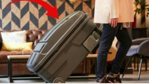 Sådan en kuffert drømmer alle forældre om! Se her, hvad der er så usædvanligt ve