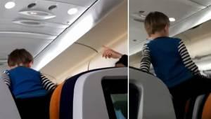 Den 3-årige dreng udviser en frygtelig opførsel og laver ballade gennem hele den
