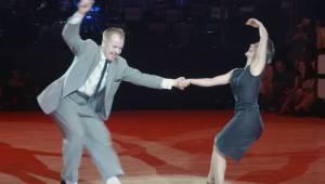 Det lykkedes dette par at gennemføre en perfekt gengivelse af koreografien fra D