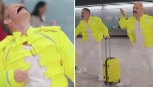 En fremragende hyldest fra personalet i lufthavnen til Freddie Mercury i anledni