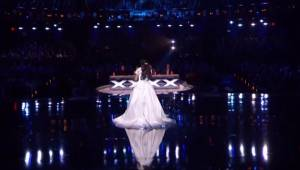 Den afsluttende optræden for den unge deltager i talentshowet gjorde, at hele sa