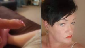 Kvinden anbragte et billede af sine negle på Facebook, men en af kommentarerne l