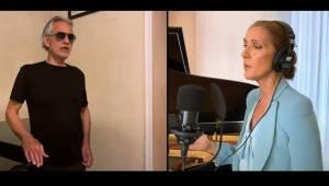 Celine Dion og Andrea Bocelli vender tilbage i denne usædvanlig bevægende bearbe
